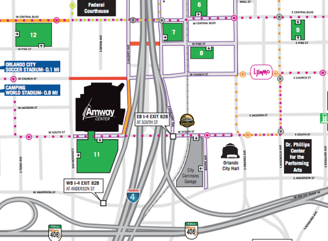 PARKING MAP FOR THE CITY OF ORLANDO (CLICK THE IMAGE TO SEE FULL MAP)