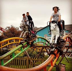 The Steeplechase racing coaster at Blackpool Pleasure Beach. The last remaining Arrow Steeplechase in the world. - IMAGE VIA MATT_STROH | INSTAGRAM