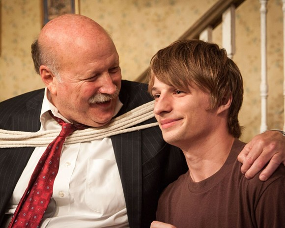 Allan Whitehead as Harold (Right) and Adam Minossora as Phillip (Left) in Orphans at Theater On The Edge - © MONICA MULDER