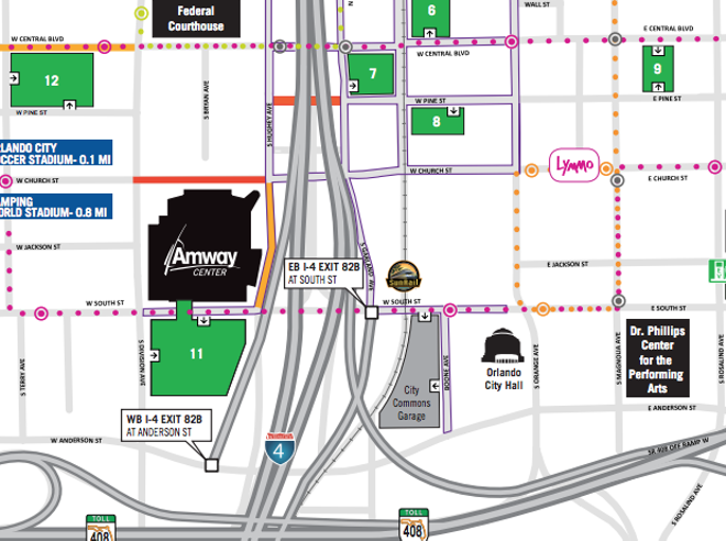 Click on the image for the full downtown Orlando parking map - GRAPHIC VIA CITY OF ORLANDO