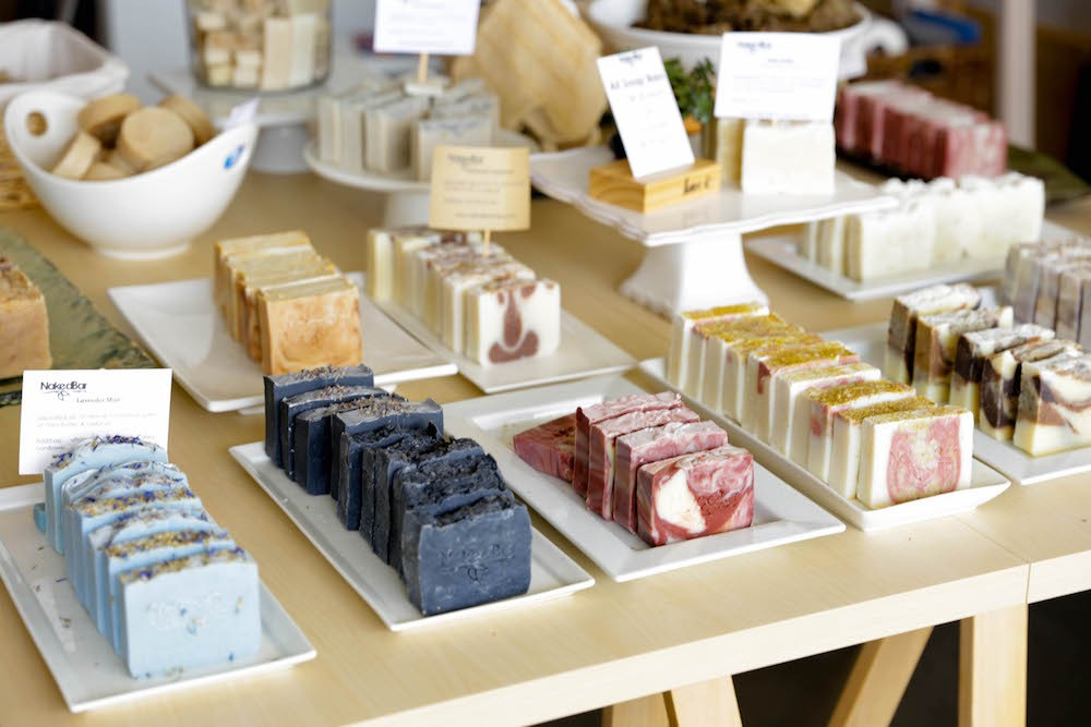 Handmade soaps at Naked Bar Soap Co. - PHOTO BY LINDSEY THOMPSON