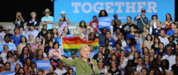 Clinton punches back at Tampa rally, chooses Tim Kaine as VP