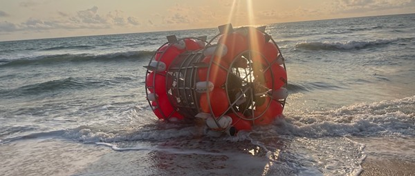 Florida man washes ashore in bubble he intended to ride to New York
