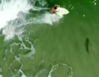 Drone video shows surfer passing over shark at Ponce Inlet