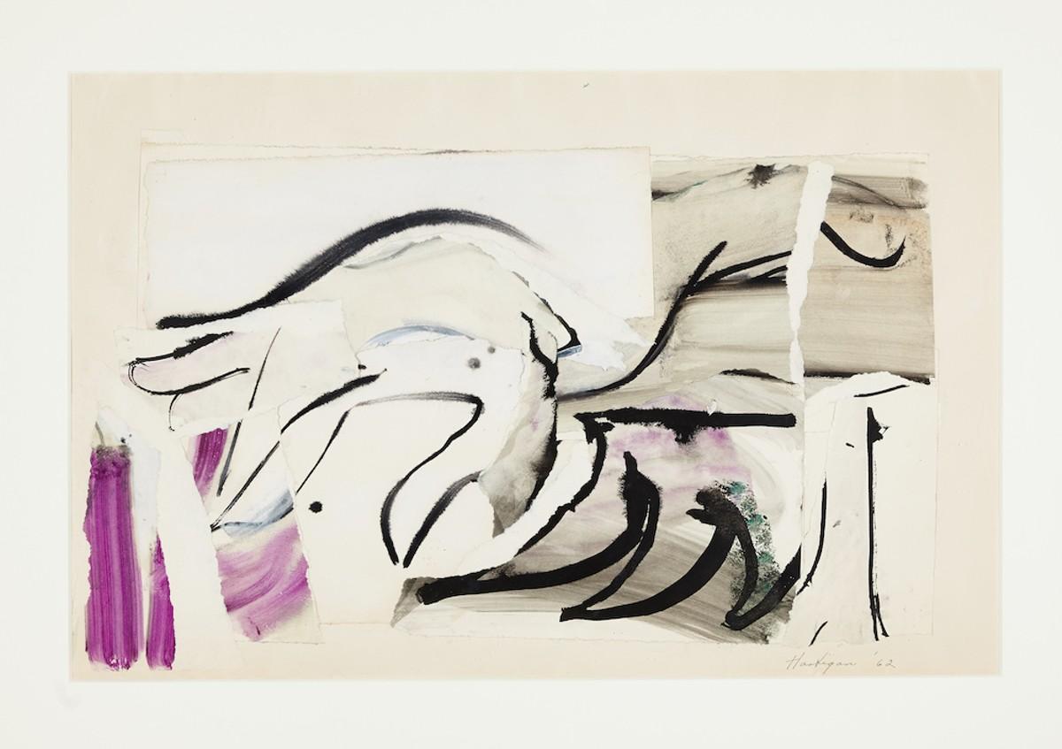 """Untitled (Marilyn Study – Hand),"" by Grace hartigan (1962)"