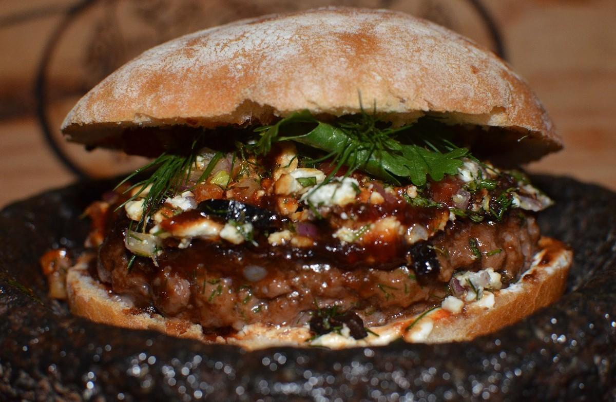 Bem Bom lamb burger