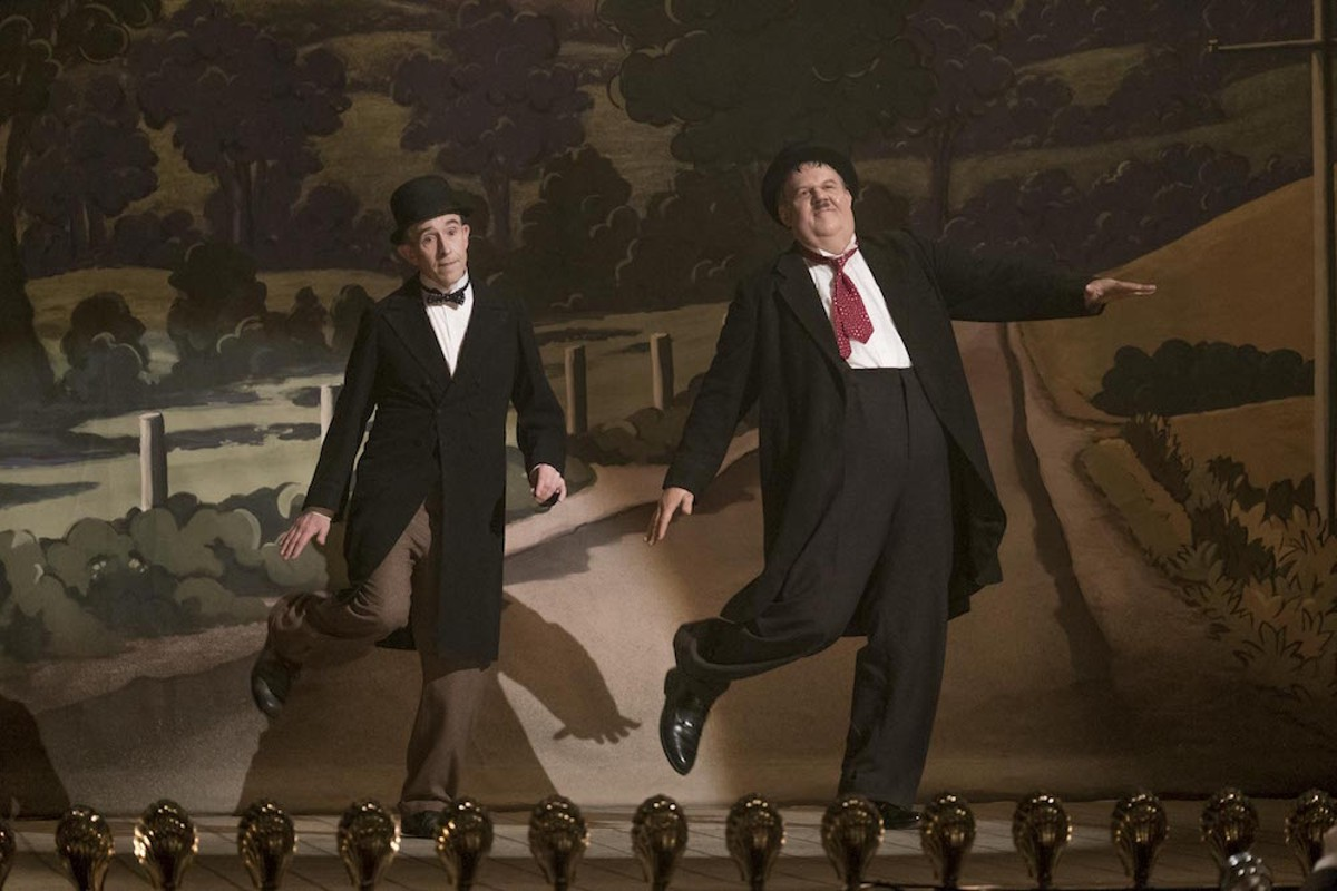 Steve Coogan as Stan Laurel and John C.Reilly as Oliver Hardy