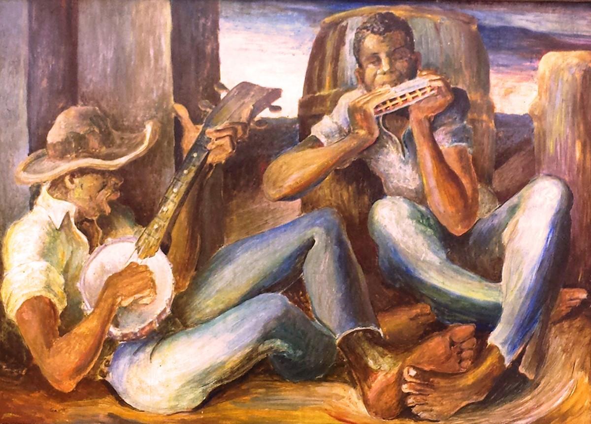 "James Britton Gantt, ""The Musicians,"" gift of the artist to Thomas Hart Benton"