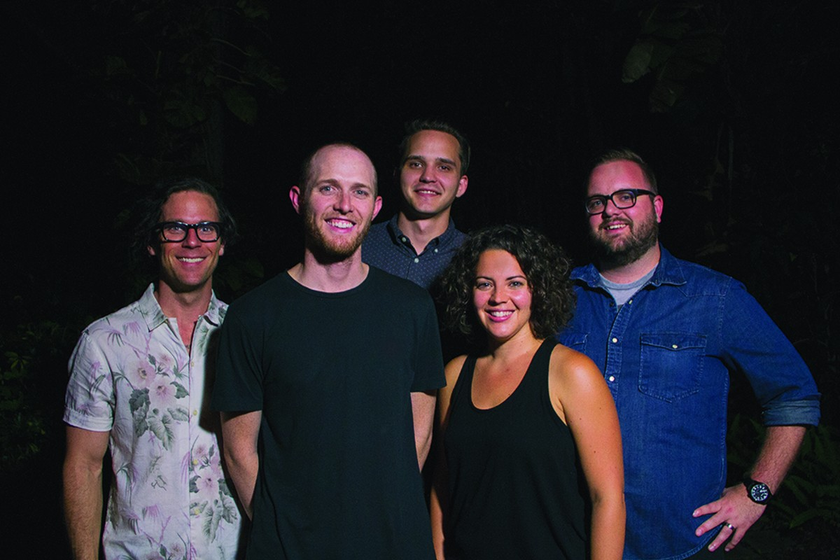 Members of the Creative City Project team (left to right): Cole NeSmith, Josh Owen, Jake Ellis, Holly Harris, John David Harris