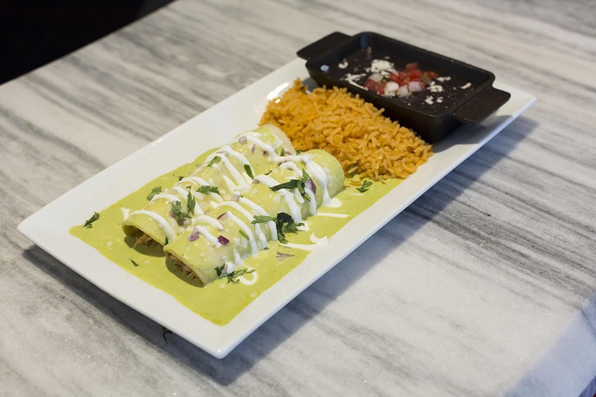 Chicken & spinach enchiladas at Saint Anejo Mexican Kitchen