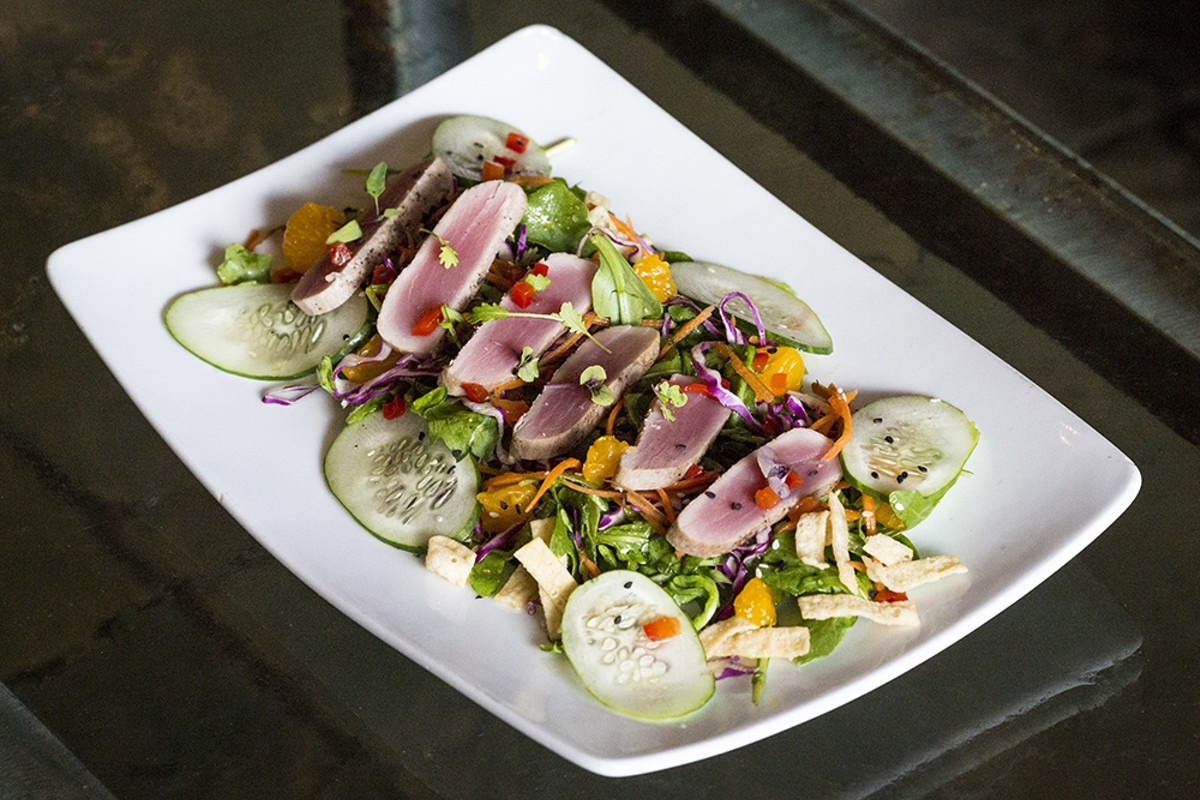 Asian ahi salad