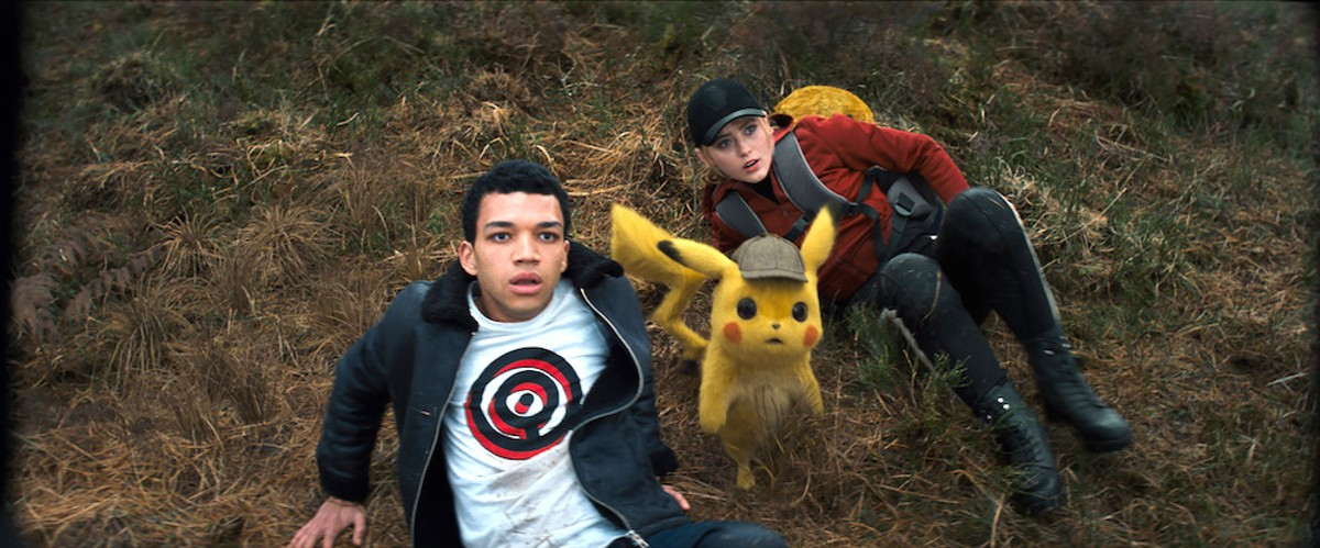 Justice Smith and Lucy Stevens in Pokémon: Detective Pikachu
