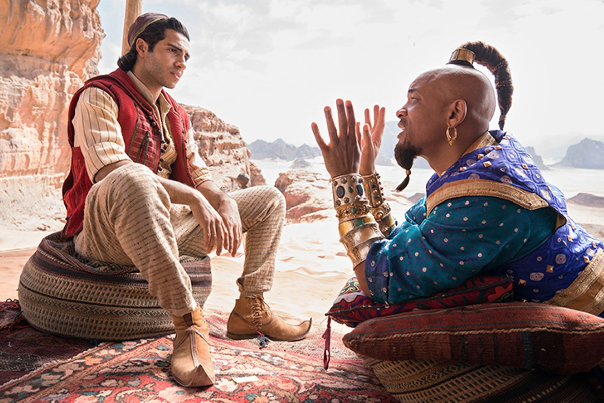 Mena Massoud and Will Smith in 'Aladdin'