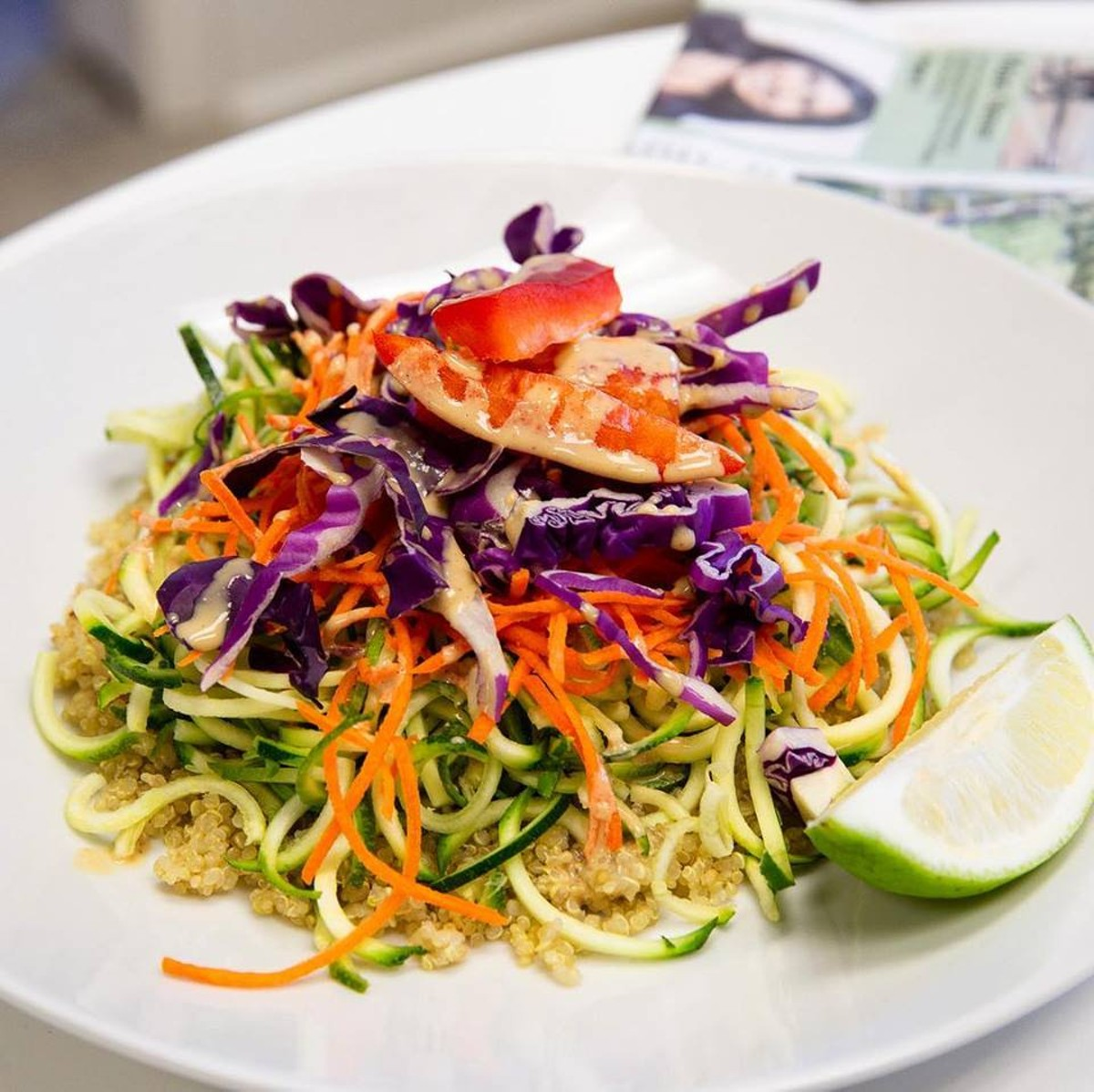 Vegan Pad Thai Salad at New Moon Market