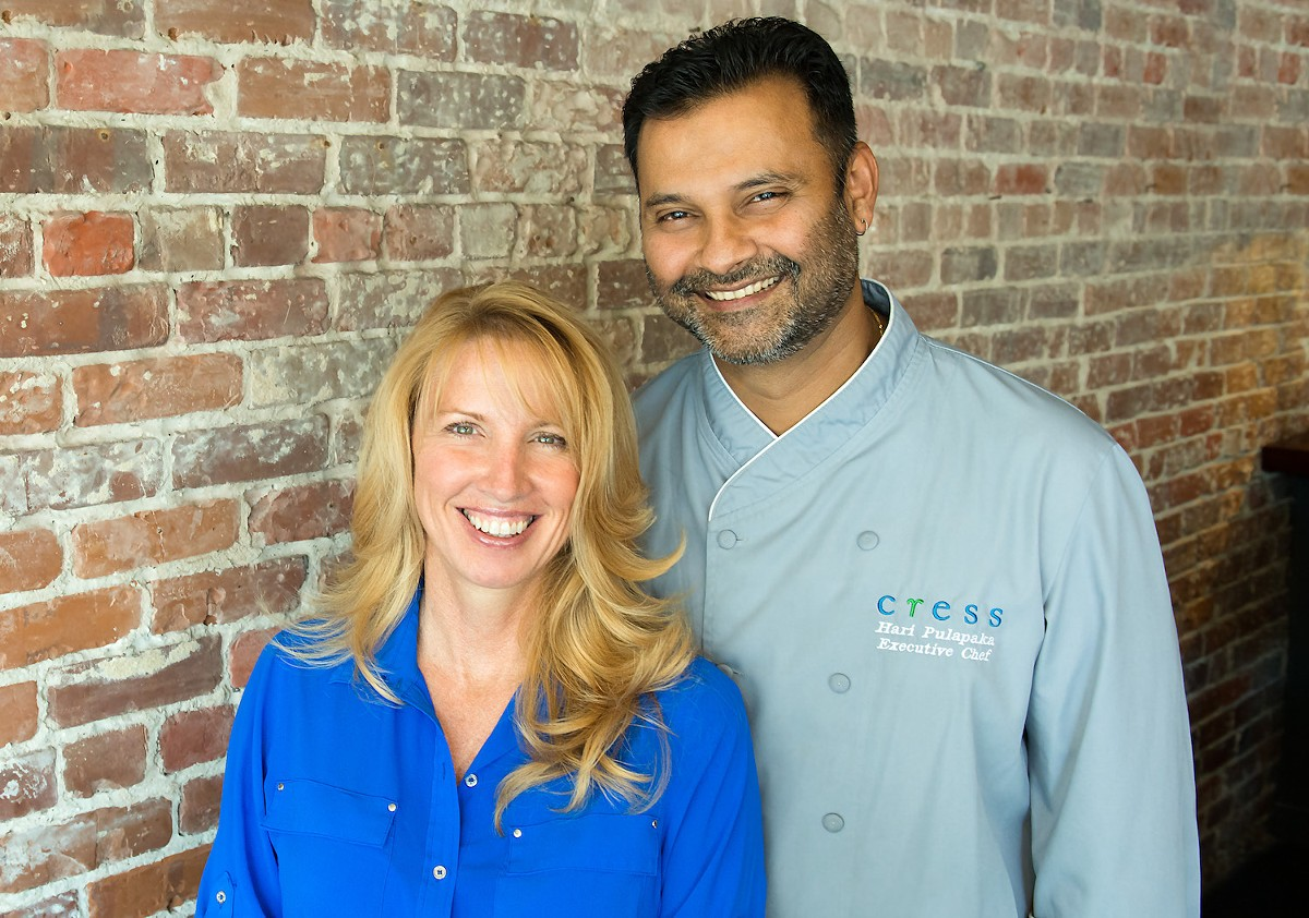 Jenneffer and Hari Pulapaka of Cress Restaurant