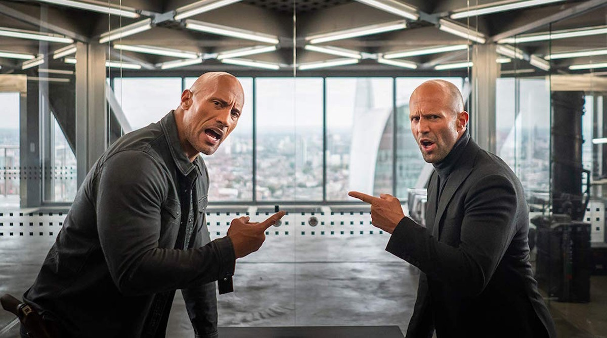 Dwayne Johnson and Jason Statham in 'Hobbs & Shaw'