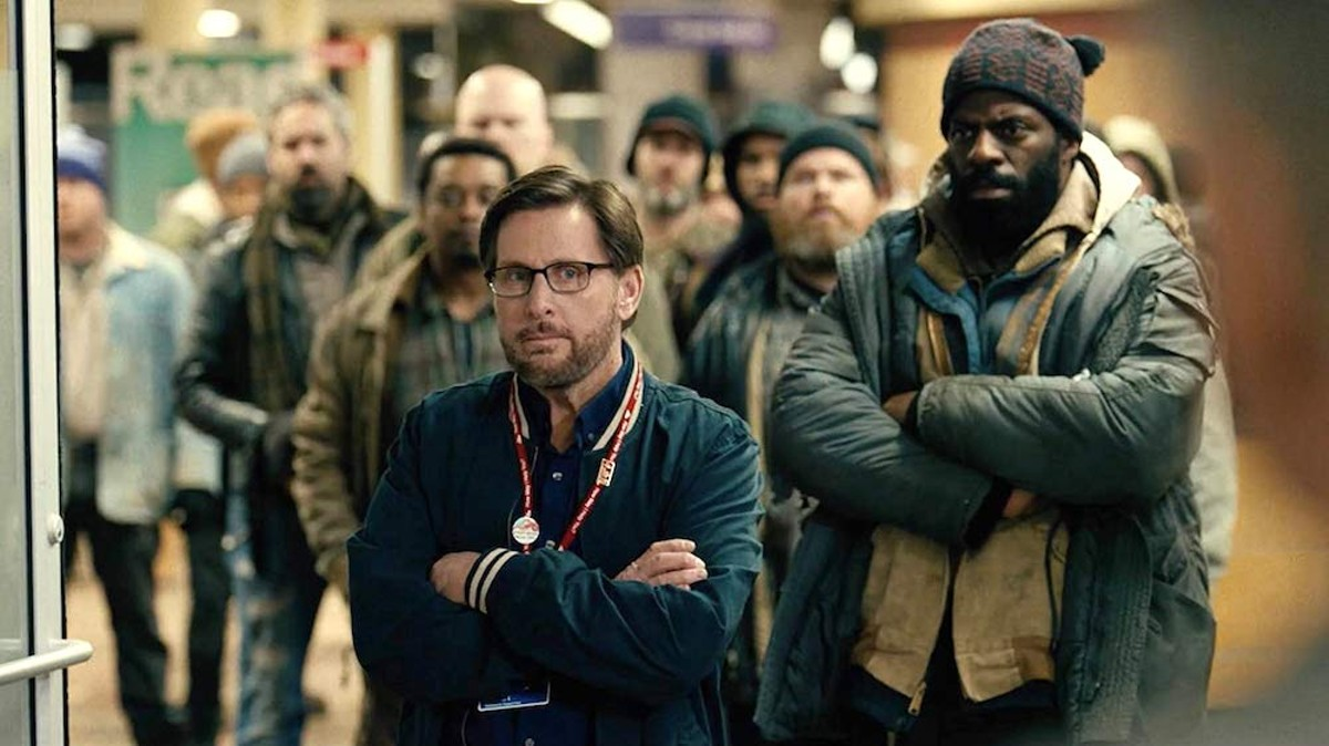 "Emilio Estevez and Che ""Rhymefest"" Smith in The Public"