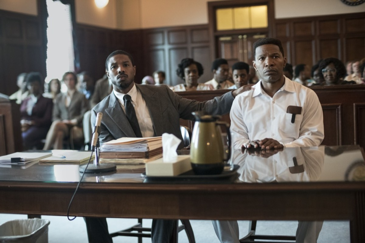 Michael B. Jordan and Jamie Foxx in 'Just Mercy'