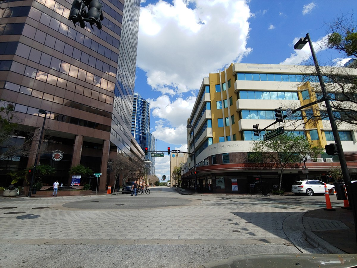 Orange Avenue, downtown Orlando.