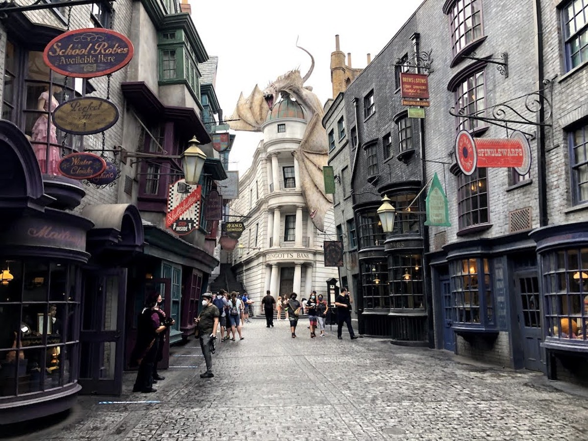 Diagon Alley on Universal Orlando's reopening day
