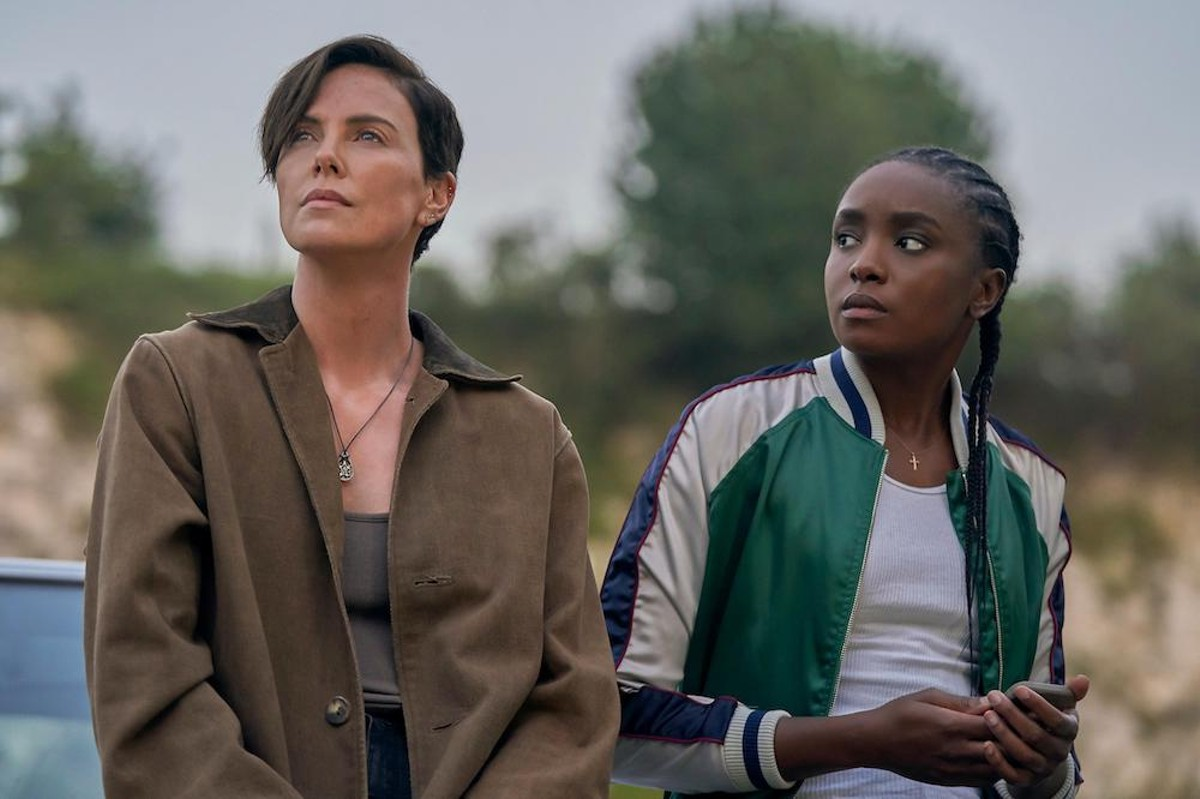 Charlize Theron and KiKi Layne in 'The Old Guard'
