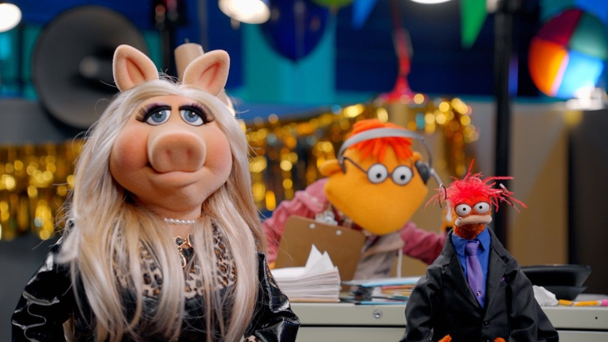 "Miss Piggy (left) in ""Muppets Now."""
