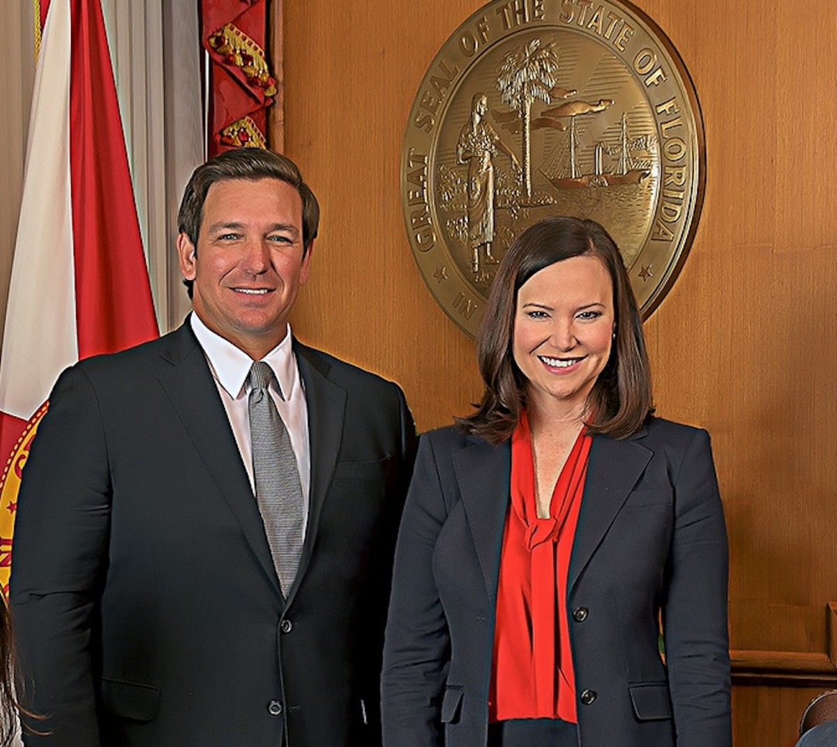 Gov. Ron DeSantis and Attorney General Ashley Moody
