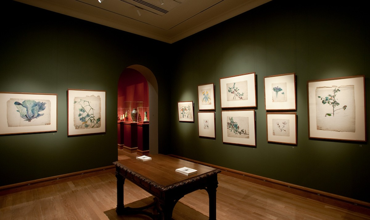 "A view of the 'Watercolors From Louis Comfort Tiffany's ""Little Arcadia""' exhibition"