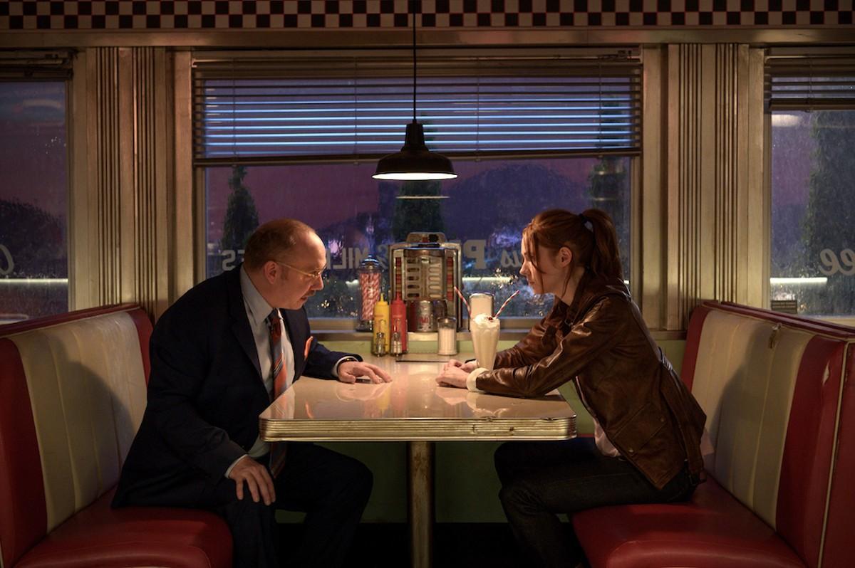 Paul Giamatti and Karen Gillan in 'Gunpowder Milkshake'