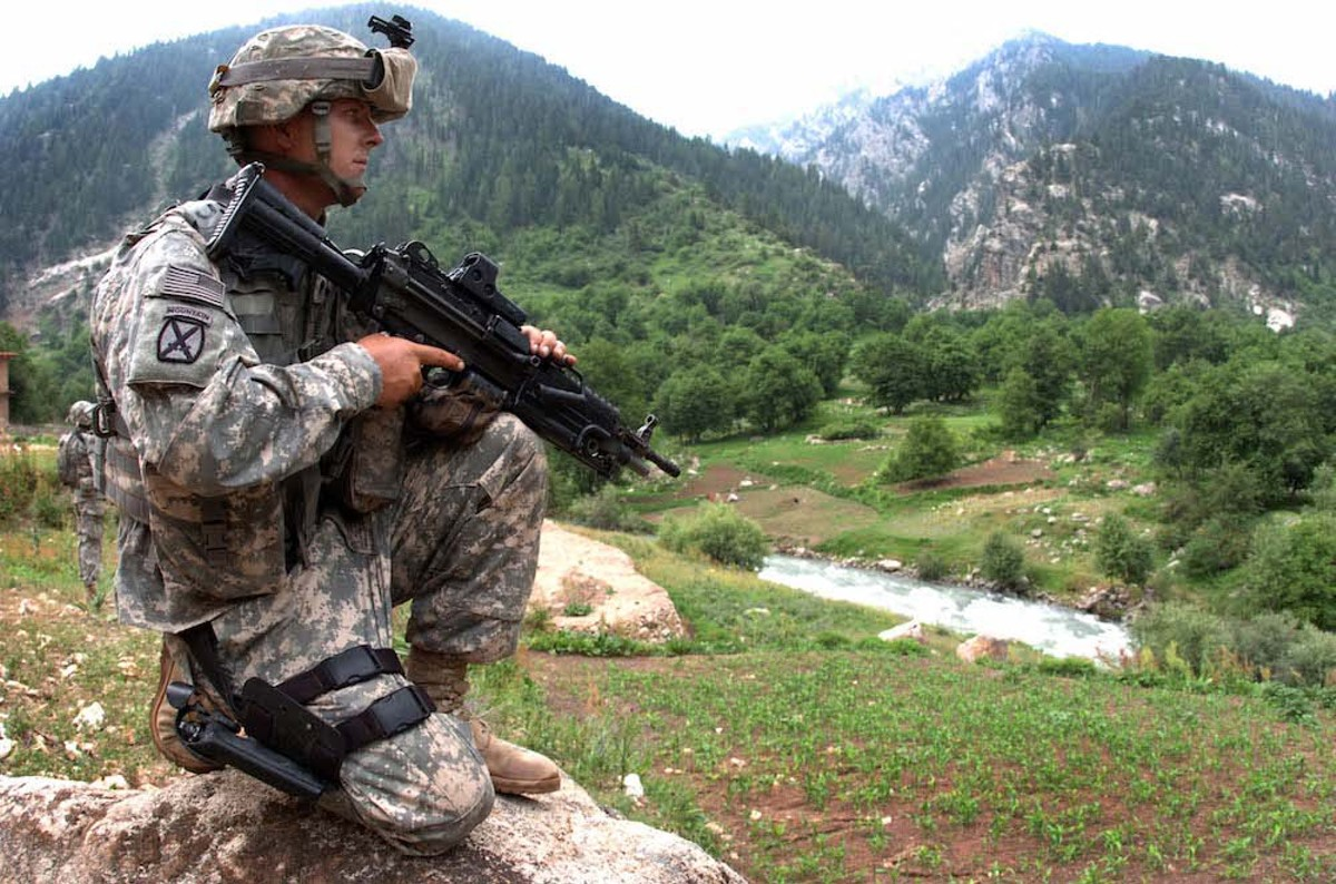 An Army Specialist in Parun, Afghanistan