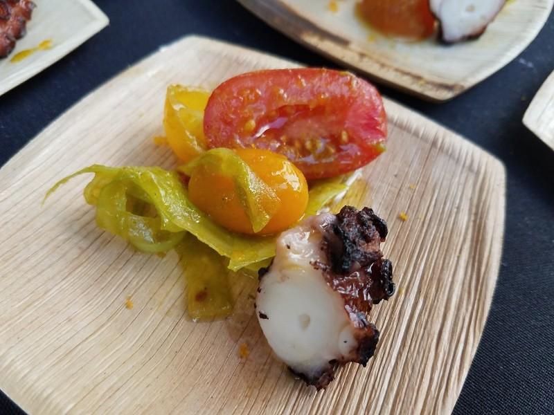 Wood-fired octopus (Pizza Bruno) - FAIYAZ KARA