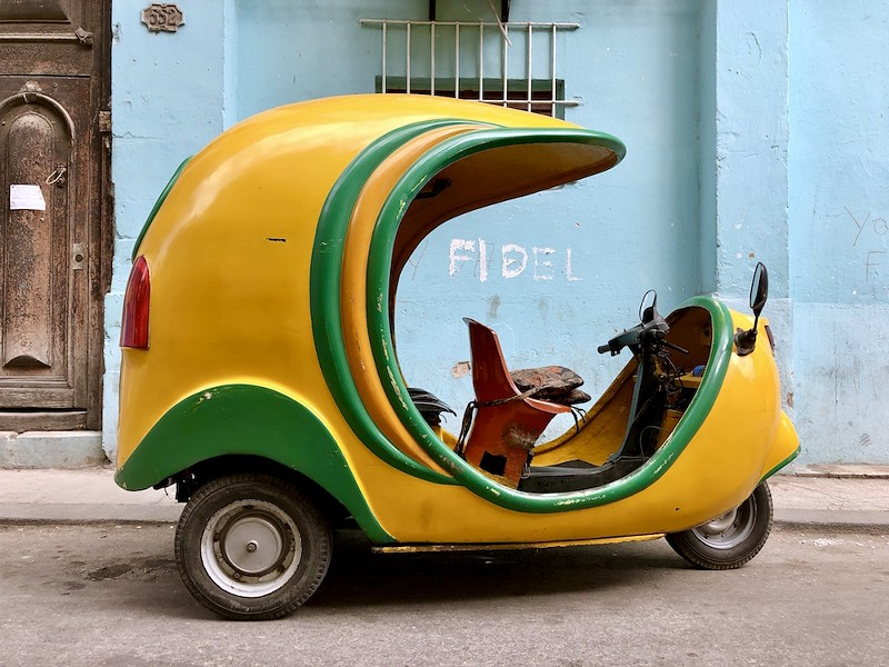 A Cocotaxi in Old Havana - PHOTO BY ROB BARTLETT