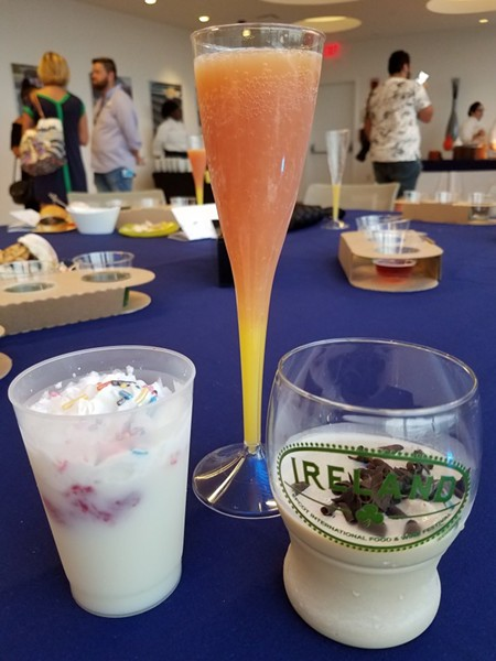 L-R: Pancake milkshake (Test Track), Madras mimosa (Shimmering Sips Mimosa Bar), Guinness Baileys shake (Ireland) - FAIYAZ KARA