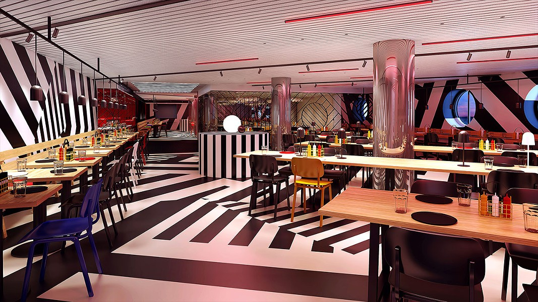 The dining room at Razzle Dazzle - IMAGE VIA VIRGIN VOYAGES