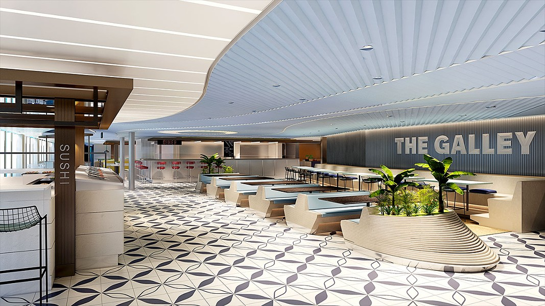 The Galley food hall - IMAGE VIA VIRGIN VOYAGES