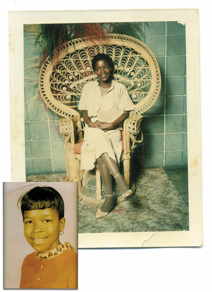 Like many other children, the author's mother, Verna Daniels, got her hair pressed. Once she got older, she decided to cut her hair, and has worn a low cut for decades. - PHOTOS COURTESY OF VERNA DANIELS