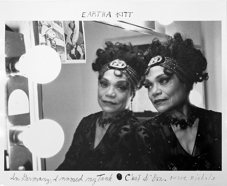 "Eartha Kitt, ""C'est Si Bon"" - PHOTO © DUANE MICHALS, COURTESY OF DC MOORE GALLERY, NEW YORK"