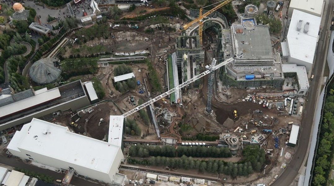 The overview of the new, yet to be announced Hagrid coaster. Photo taken on Feb 1. - PHOTO VIA BIORECONSTRUCT/TWITTER