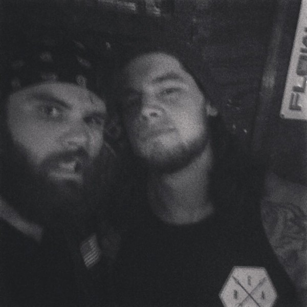 Mack Studley and Baron Corbin at Will's Pub