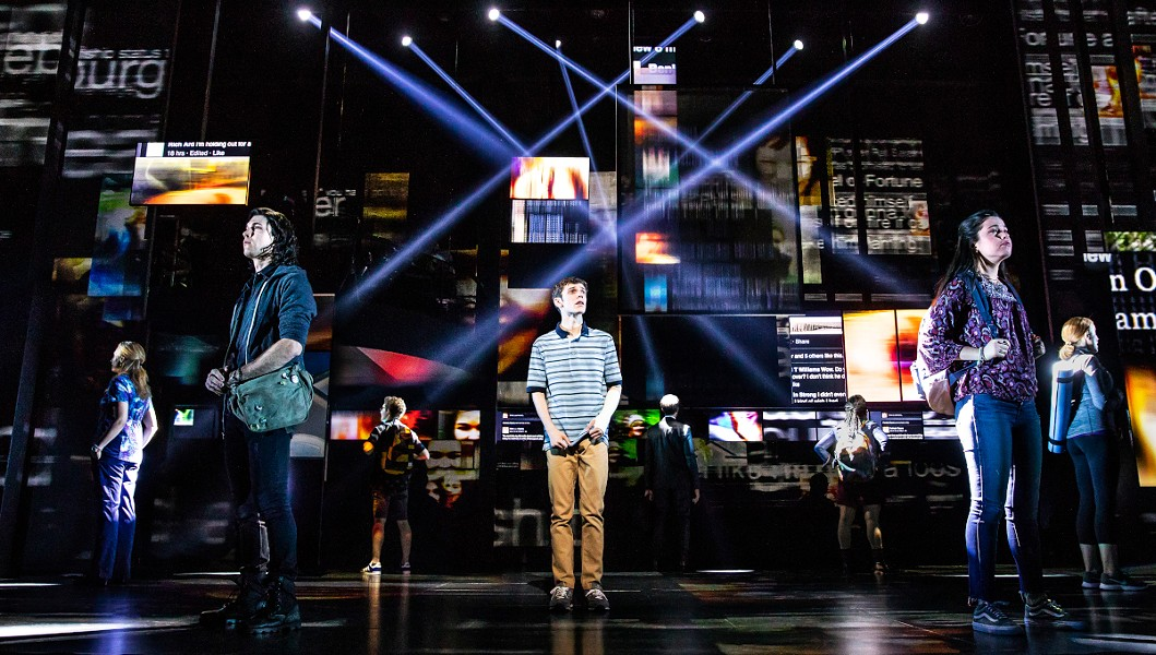 Ben Levi Ross as Evan Hansen in the first North American tour of Dear Evan Hansen. - PHOTO BY MATTHEW MURPHY.