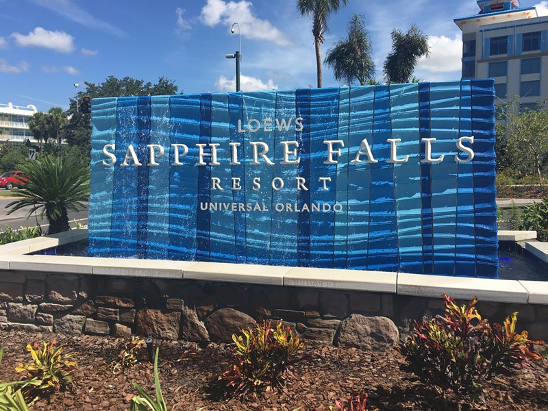 Loews Sapphire Falls Resort at Universal Orlando is now open to guests, but that doesn't mean it's entirely finished. (Photos by Seth Kubersky)