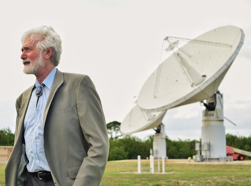 NASA's chief scientist and chief technologist, Barry Geldzahler, introduces a high-power radar system that can detect asteroids and comets 100,000 times more accurately than telescopes. - PHOTO BY JOEY ROULETTE