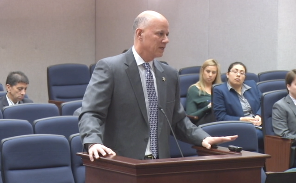 Pinellas County Sheriff Bob Gualtieri told Florida lawmakers in January that real-time facial recognition is too controversial for his agency to use. - PHOTO VIA THE FLORIDA CHANNEL