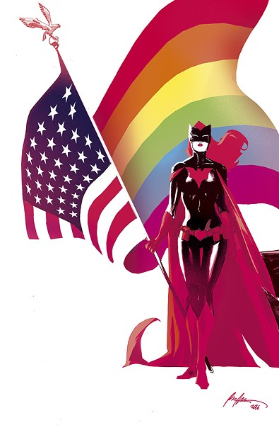"ILLUSTRATION BY RAFAEL ALBUQUERQUE VIA THE NEW YORK TIMES FOR THE ""LOVE IS LOVE"" COMIC BOOK"