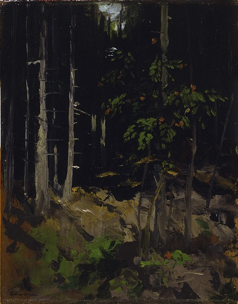 'Mountain Ash, Dark Woods' (1911), painting by Robert Henri - IMAGE COURTESY CFAM