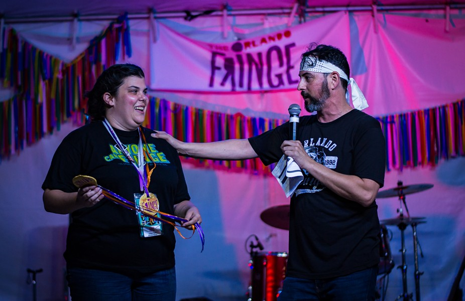 Orlando Fringe producer Michael Marinaccio is passing the torch to Lindsay Taylor ahead of the 2020 Festival - PHOTO CREDIT ASHLEIGH GARDNER/ORLANDO FRINGE