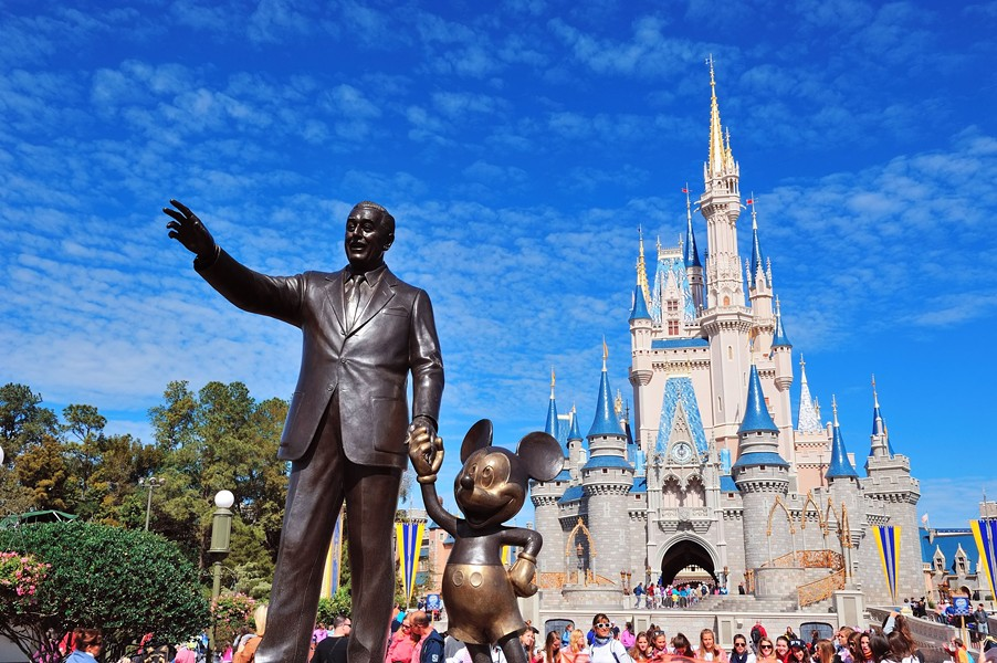 """""""Look up there,"""" said Walt to Mickey. """"Someday the sky will be yours."""" - PHOTO VIA DISNEY"""