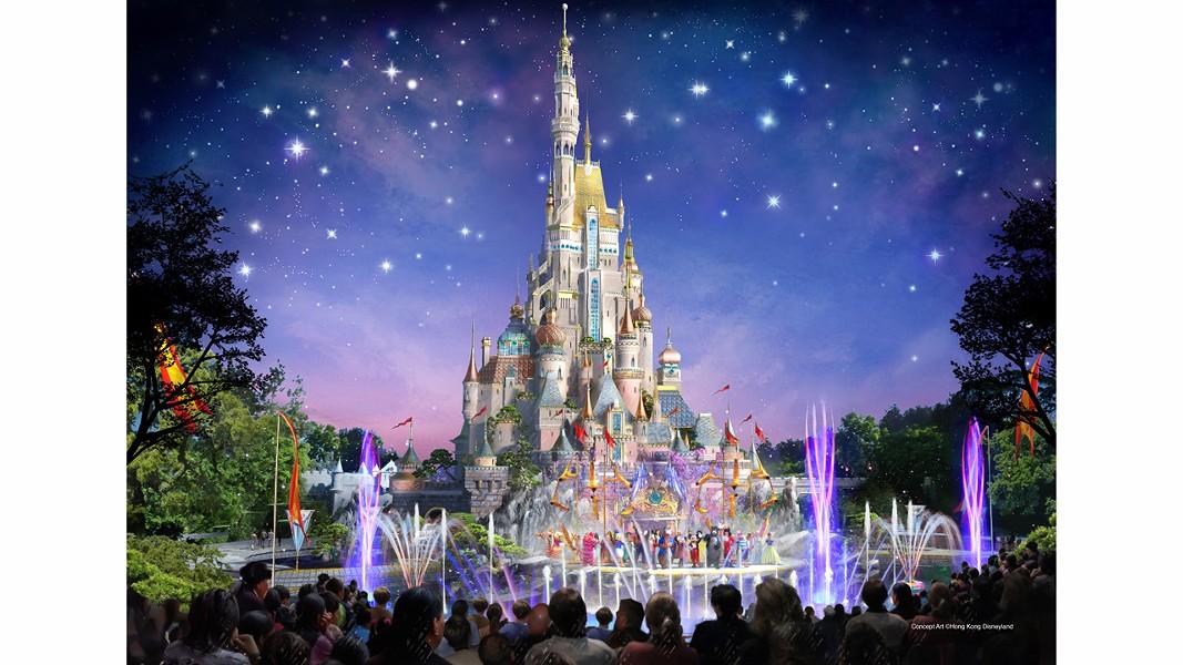 Hong Kong Disneyland's reimagined castle - IMAGE VIA DISNEY PARKS BLOG