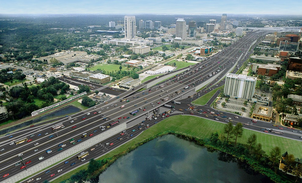 A rendering of I-4 in its massive finished form - PHOTO VIA FLORIDA DEPARTMENT OF TRANSPORTATION / I-4 ULTIMATE