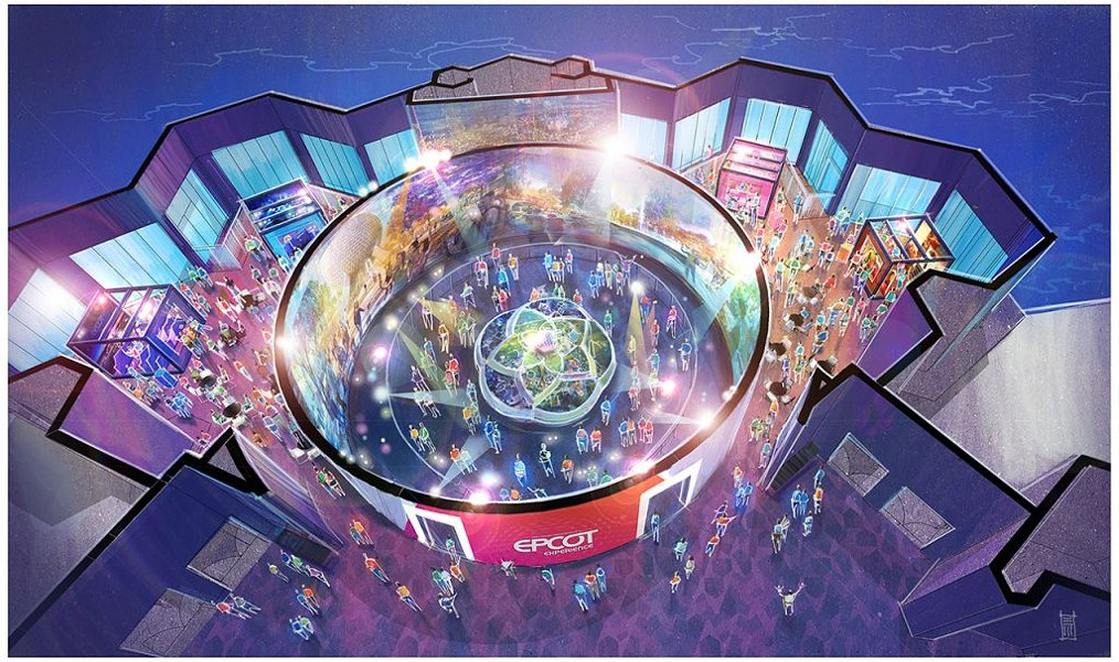 Walt Disney Imagineering presents the Epcot Experience museum in the former Odyssey Resturant - IMAGE VIA DISNEY